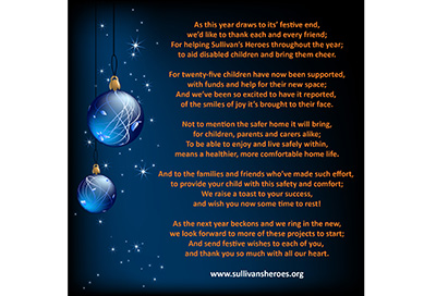 Festive wishes from Sullivan's Heroes