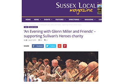 Sussex Local features ConChord Big Band Event for Sullivan's Heroes