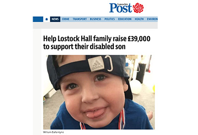 Lancashire Post feature 'William's Home' project