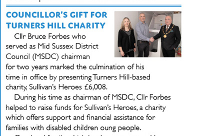 RHuncovered features Mid Sussex District Council's support