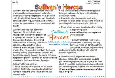 Wellspring West Sussex feature Sullivan's Heroes