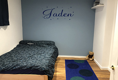 Jaden's enjoying his new space