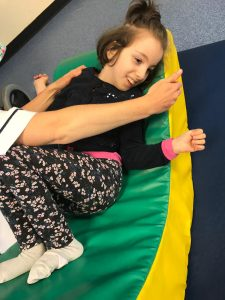 Ana-Lily having physio (July 2019).