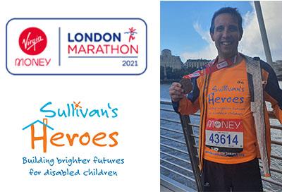 Ben's London Marathon 2021 Success for Sullivan's Heroes